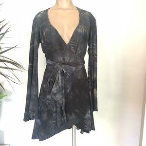 Marciano wrap around washed dress  Medium